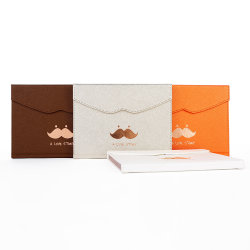 Qy-Pn18 Special Mini Mustache Diary Gift Set Diary Planner Trifolding Notebook with Magnet Closure