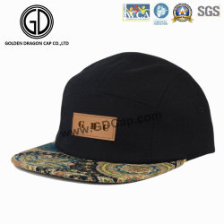 cf1ecfaffe7 Great Cap Adjustable Paisley Snapback Camper Hat with Leather Logo