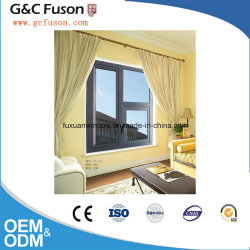 New Design Aluminum House Windows Frame Factory Frosted Glass Double Glazed