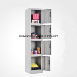 Steel Locker 4 Door Storage Coin Clothes Changing Wardrobe Iron Cabinet Separate Metal Space Saving Locker