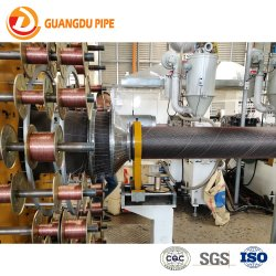 Plastic HDPE/PE Pressure Composite Water Pipe Steel Mesh Wire Reinforced Pipe