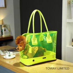 Non-Toxic Transparent PVC Dog Carrier Outdoor Shoulder Pet Bag