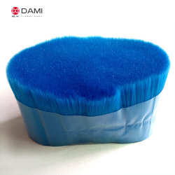 High Quality Blue Colored PBT Soft Straight Longer Taper Tapered Artificial False Eyelash Filament