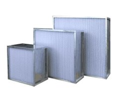H14 Galvanized Frame & Aluminum Foil Separator HEPA Filter