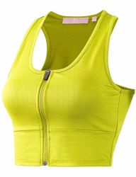 Women Racer-Back Sports Bras - High Impact Workout Gym Active-Wear Bra