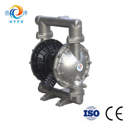 """Air Operated 2"""" High Temperature Stainless Steel 304/316 Double Diaphragm Pneumatic Waste Sludge Oil Pump"""