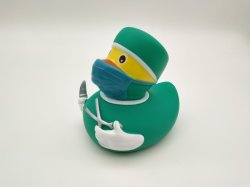 Nurse Shape Plastic PVC Duck