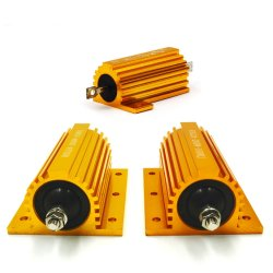 Wirewound LED Load Gold Aluminum Case Shell Resistor