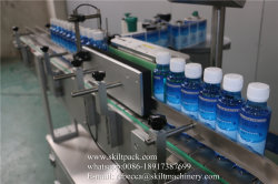 250ml Plastic Clear Round Pet Bottle Adhesive Labeling Machine