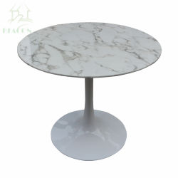 Artificial Round Marble Kitchen Tulip Dining Table