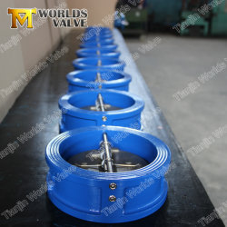 API594/ISO5752 Ductile Cast Iron Wafer Type Dual Plate Double Door Check Valves Non Reture Valve