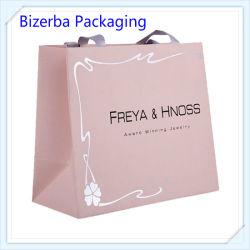 High End White Kraft Paper Shopping Carrier Bag