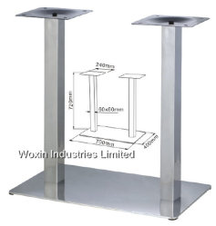 Double Pieces Stainless Steel Table Legs Wholesale (15)
