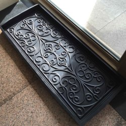 Home Decor Moulded Press Embossed Pattern Rubber Shoe Boot Tray