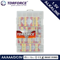Mercury&Cadmium Free China Factory Ultra Alkaline Battery 24PCS in PVC Box (D/C/AA/AAA/9V)