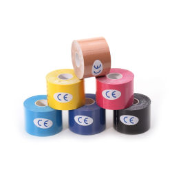 China Supplier Sports Safety Therapy Elastic Cotton 5cm X 5m Muscle Support Kinesiology Tape