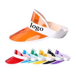 New Design Transparent PVC Sun Visor Hat Sport Cap with Custom Logo