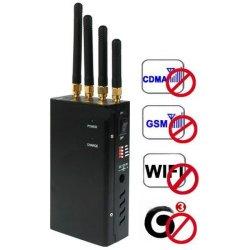 4-Antennas Portable Cell Phone Jammer GPS Jammer WiFi Jammer
