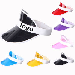 New Design Transparent PVC Sun Visor Hat Sport Cap with Custom Logo