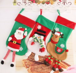 Wholesale Christmas Decoration Stockings Socks Christmas Ornaments