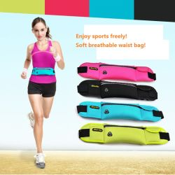 Multi-Function Neoprene Lycra Sports Waist Bag with Phone Pouch with Bottle Holder