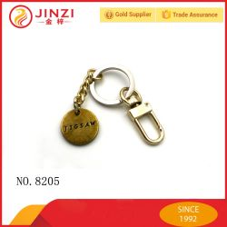 Custom Brand Name Logo Metal Coin Holder Keychains