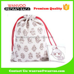 Fold up Lovely Printed Tea Bag with Drawstring