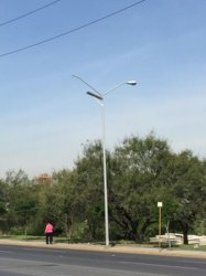 Energy Saving IP66 Solar Street Light 195lm/W Mounted Path Lightsfor LED Road Lighting