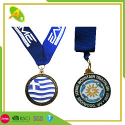 Customized Zinc Alloy Engraved Metal Craft Marathon Medallion for Decoration (308)