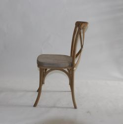 Antique Color Oak Wooden Cross Back Chair at a Lowest Price
