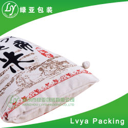 Wholesale Promotional Made of 100% Natural Canvas Cotton Rice Bag, Wheat Bag with Drawstring