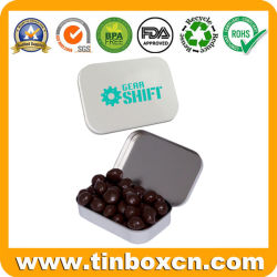 Rectangular Customized Mini Small Chocolate Tins for Christmas Festival Gifts