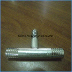 "High Precision Produce Custom CNC Machining Part Manifold - 3/8"" Barbed U-Bend to Three 3/8"" Barbs"