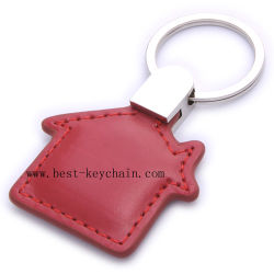 Genuine Promotion PU House Shape Leather Key Holder (BK20889)