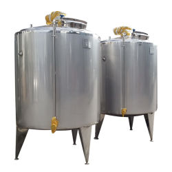 Food Sanitary Stainless Steel 2000L Ice Cream Aging Vat