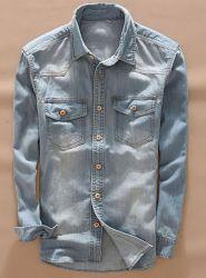 Hot Style 100%Cotton Woven Denim Men Shirts