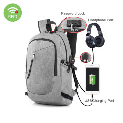 2018 New Design Waterproof Smart USB Charging Anti Theft Business Laptop  Backpack a42ee4b10c143