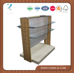 Two Sided Retail Display Rack with Tempered Glass Panel