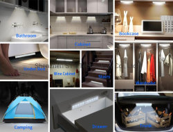 0.8W 3528 SMD LED PIR Motion Sensor LED Down Bed/Tap Night Light with FCC Approval