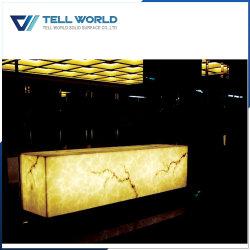 Modern Night Club Bar Counter RGB LED Commercial Nightclub Reception Bar