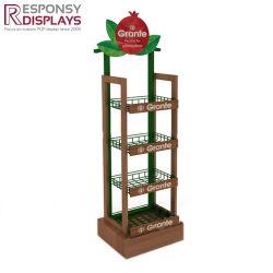 Customized Floor Wood Wine Rack