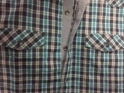 Yarn Dyed Stretch Poplin Man Shirt with Two Pocket Matched with Body