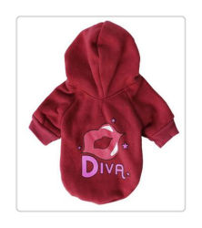 Diamond Quilted Faux Leather Dog Winter Coat with Fur Collar