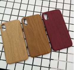 Ultra Thin Wooden Phone Case PU Mobile Phone Cover Custom Phone Case