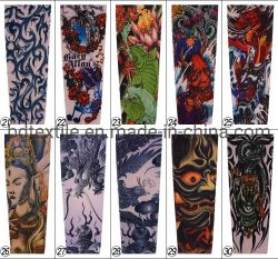 Breathable Sport Cycling UV Protection 3D Fake Temporary Tattoo Sleeves