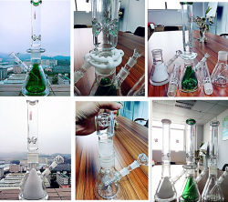 Hot Sale 18inch 50 Diameter 5thickness Adustable Honeycomb Birdcage Shower Tobacco Glass Smoking Water Pipe