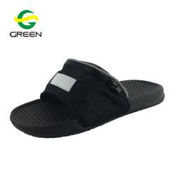 a6e69b17ad3c Custom Logo Black Blank Slide Sandal
