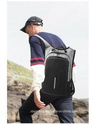 Canvas Shoulder Bag Anti Theft Code Lock Backpack, Outdoor Travel Sport Backpack, School Laptop Bags Backpack