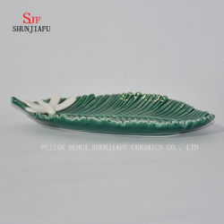 Ceramic Seasoning Dishes Appetizer Plates, Multicolor Porcelain Saucers Bowl Dinnerware (leaf Shape)