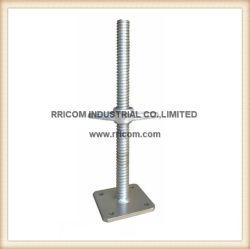 Galvanized Scaffolding Adjustable Solid Screw Jack with Base Plate